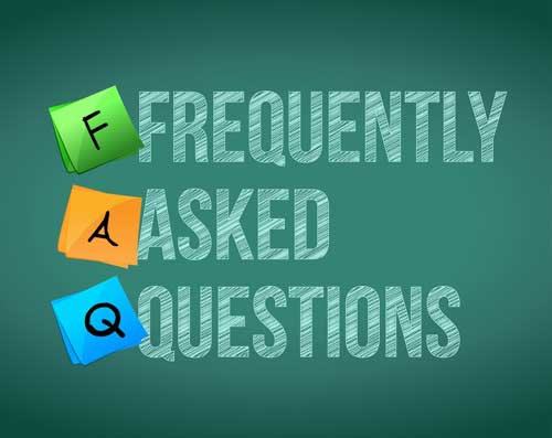 Our most frequently asked questions