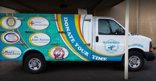 Tri-County Meals on Wheels Sponsors' truck - Palestine, TX